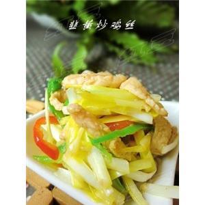 美味下饭菜---韭黄炒鸡丝