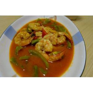 泰式红咖喱虾仁