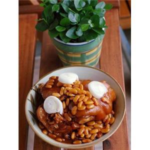 猪手炖黄豆