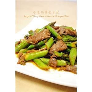 甜辣芦笋牛肉片