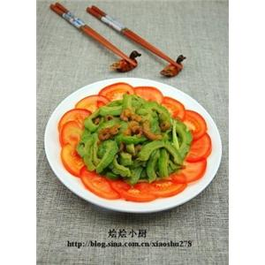 苦瓜炒虾米