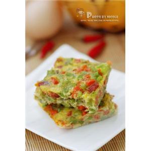 零厨艺大爱的5分钟完美蛋饼 —— 微波腊味杂蔬蛋饼