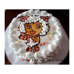 手绘蛋糕----可爱的美洋洋