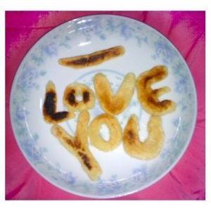 爱心糯米饼