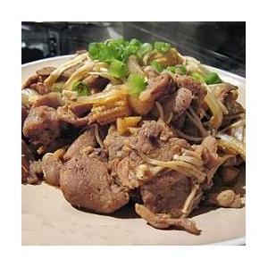 豉椒金菇炒肉片