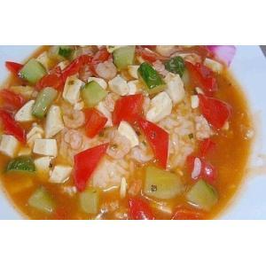 蛋白虾仁烩饭