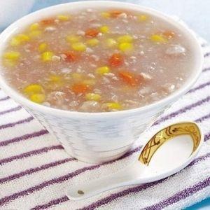 果仁玉米粥