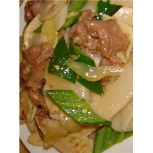 鲜笋炒鸭肉