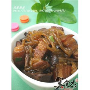 猪肉茶树菇炖粉条
