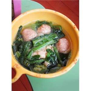 羊肉丸菠菜汤