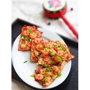虾仁鸡蛋饼