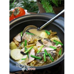 泡菜芋儿鱼头煲