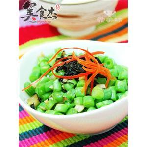榄菜肉末豆角