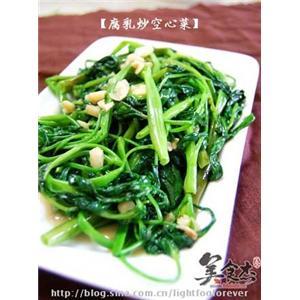 腐乳炒空心菜
