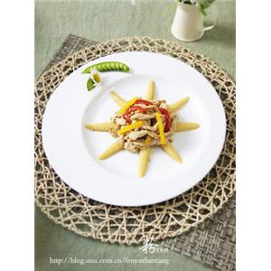 玉米笋烩鸡柳