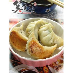 韭菜墨鱼锅贴