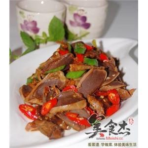 五香杭椒鸭胗