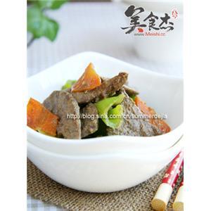 尖椒胡萝卜炒猪肝