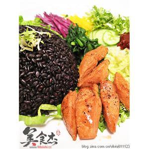 韩式冷拌鸡肉饭