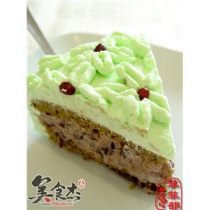 绿茶蜜豆蛋糕