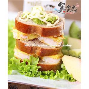 鲜虾蛋饼三明治