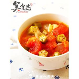 番茄炖秋葵