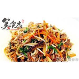 韭菜银芽炒牛肉