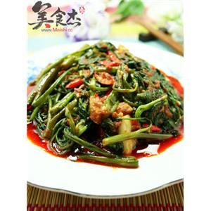 马来风光-辣炒空心菜