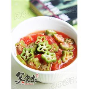 番茄炒秋葵