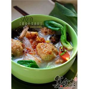 陕西烩三鲜丸子汤