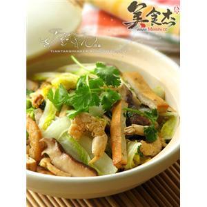 干锅虾娃娃菜