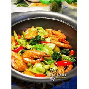 干锅海虾蔬菜煲