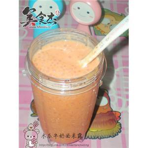 木瓜牛奶西米露
