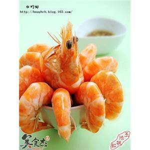 美味白灼虾