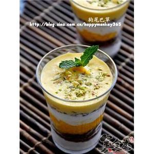 芒果酸奶冰激凌杯