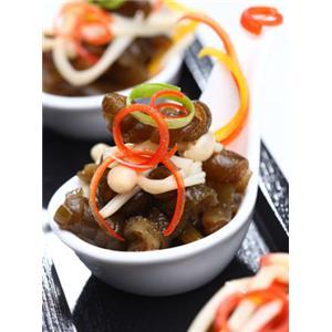 金针菇凉拌海茸条