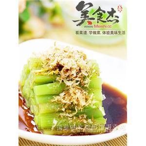 柴鱼片拌莴苣
