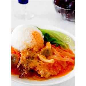 红烩洋葱猪排饭