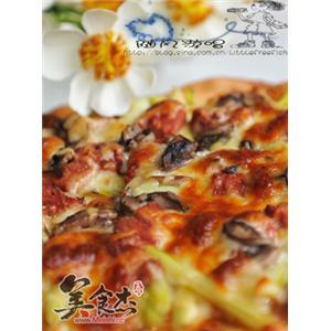 芦笋牛肉披萨