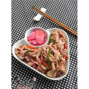 梅渍仔姜炒肉丝