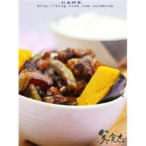 红烧肉炖南瓜豆角