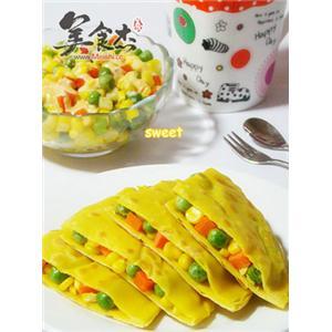 彩蔬鸡蛋饼