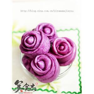 玫瑰花馒头 紫薯