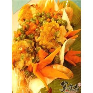 蛋黄鲜虾饼