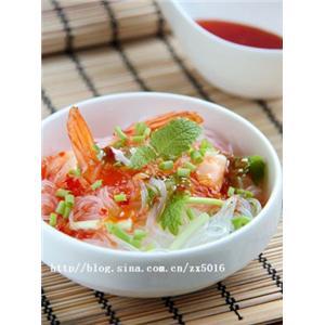 鲜虾粉丝沙拉