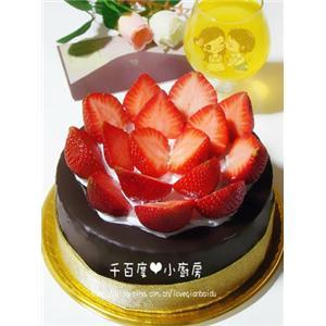 草莓巧克力脆皮蛋糕
