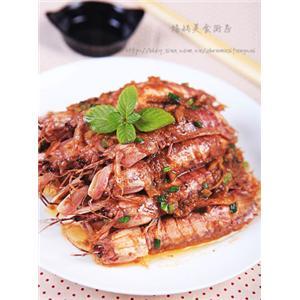 沙茶酱炒虾菇