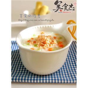 蔬菜三文鱼粥