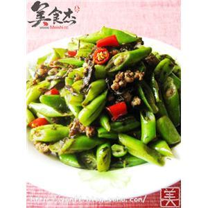 榄菜肉末炒四季豆