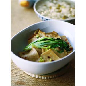 小青菜炒豆饼